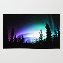 Aurora Borealis Forest Rug