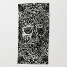 Lace Skull Beach Towel