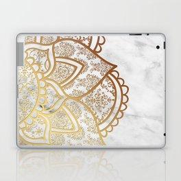 Mandala - Gold & Marble Laptop & iPad Skin