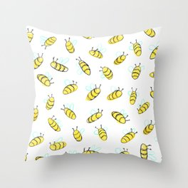 Bumble BaeBees Throw Pillow
