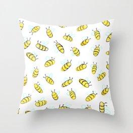 Bumble BaeBees Throw Pillow