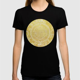 Medallion Pattern in Mustard and Cream T-shirt