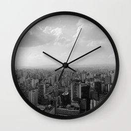 São Paulo View from the Top Wall Clock