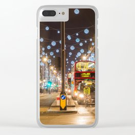 Christmas in London Clear iPhone Case