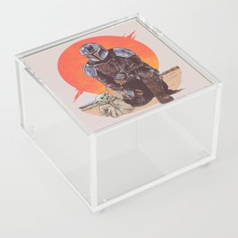 """""""The Mandalorian and The Child"""" by Hillary White Acrylic Box"""