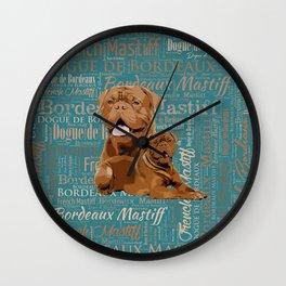 Dogue de Bordeaux Digital Art Wall Clock