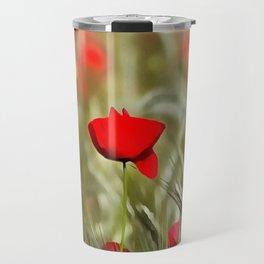 Hot Poppy Travel Mug