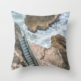 STAIRWAY  TO OCEAN Throw Pillow