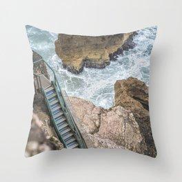 STAIRWAY  TO OCEAN Throw Pillow