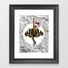 Cherry Chimney Charlotte Collage Framed Art Print