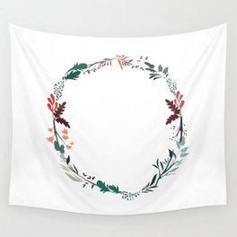 Flower Wreath Wall Tapestry