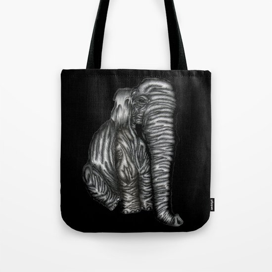 Herman in Black Tote Bag