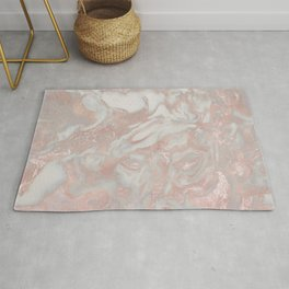 French polished rose gold marble Rug