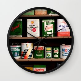 Old Cans Wall Clock