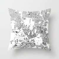 melbourne Throw Pillows featuring MELBOURNE by Maps Factory