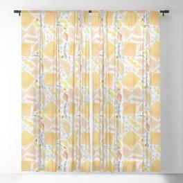 Pasta Pattern on White Sheer Curtain