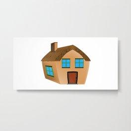 Cartoon Home Metal Print