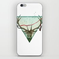 runner iPhone & iPod Skins featuring scarlet runner by Vin Zzep