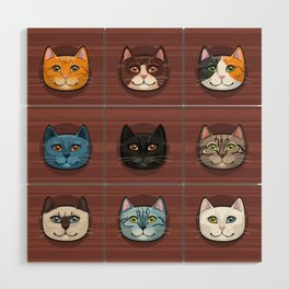 I love cats Wood Wall Art