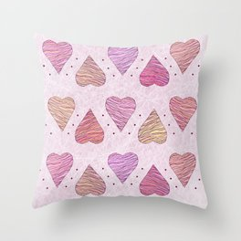 Hearts, love Throw Pillow