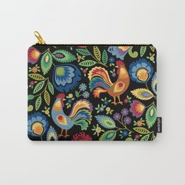 Polish Folk Roosters Carry-All Pouch