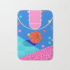 Shot Caller - memphis retro basketball sports athletic art design neon throwback 80s style Bath Mat
