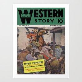 Street & Smith's Western Story - February 1941 Art Print