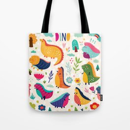 Funny dinosaurs Tote Bag