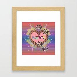 Huellas de amor Framed Art Print