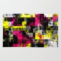 contemporary Area & Throw Rugs featuring Contemporary Geometric by Idle Amusement