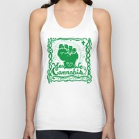 cannabis Tank Tops featuring Yes We Cannabis by ART to GO Sasso