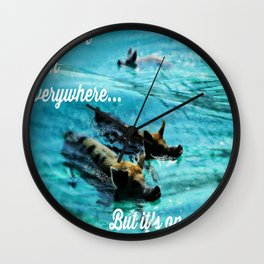 I Haven't Been Everywhere, But It's On My List...[Inspirational Travel Quotes] Wall Clock