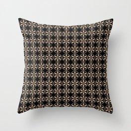 Hazelnut & Black AURA pattern Throw Pillow