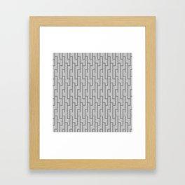 Grey Lattice Work Pattern Framed Art Print
