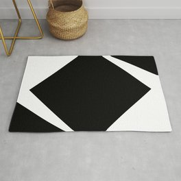 Abstract Modern Minimalist shapes Graphic Square triangles - balance Rug