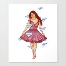 On A Breeze Canvas Print