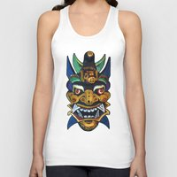 chinese Tank Tops featuring Chinese Mask by Ron Trickett (Rockett Graphics)