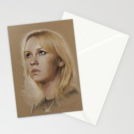 That blonde girl Stationery Cards