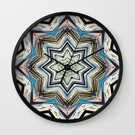 Eight Points of Texture Wall Clock