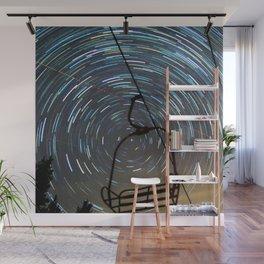 Chair Lift Spiral Wall Mural