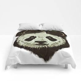 Panda Bear in Hipster Style Comforters