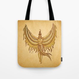 Isis, Goddess Egypt with wings of the legendary bird Phoenix Tote Bag