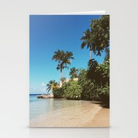 jamaica Stationery Cards featuring Jamaica palm trees by Samantha Lena Photography