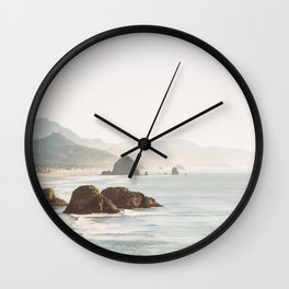 overlooking cannon beach Wall Clock