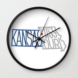 Kansas City Typography Wall Clock