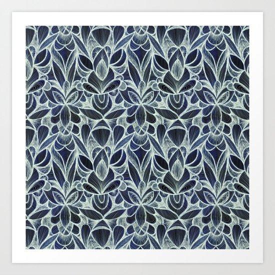 Ballpoint Pattern in Indigo by cassandraott