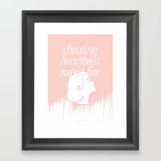 She's Thunderstorms Framed Art Print
