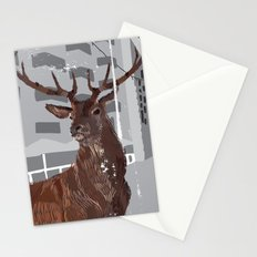 Cityscape Deer Stationery Cards