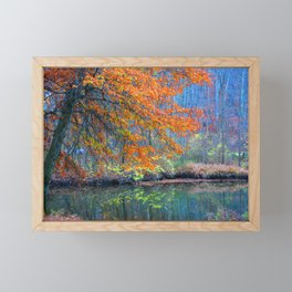 Fall on the River Framed Mini Art Print