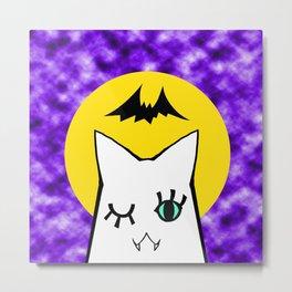 cat_halloweeen Metal Print